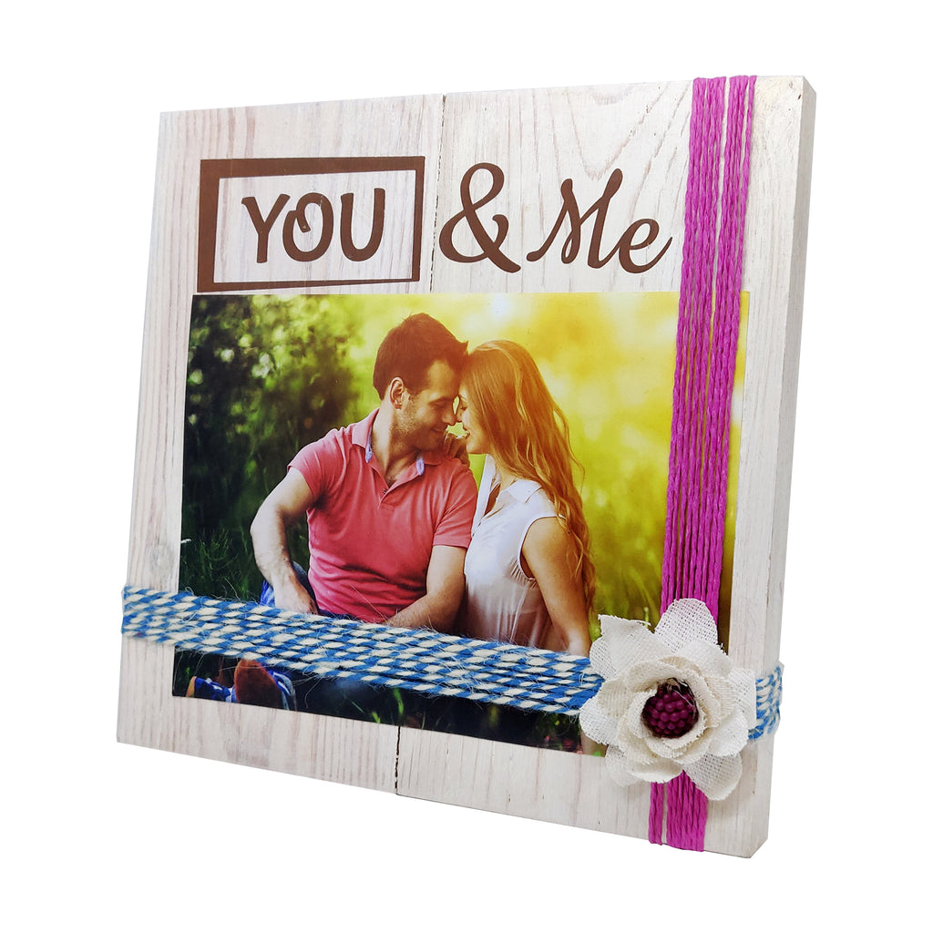 Photo Desk Board You & Me Pink Thread Right