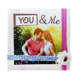Photo Desk Board You & Me Pink Thread Front