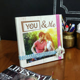 Photo Desk Board You & Me Pink Thread Mock
