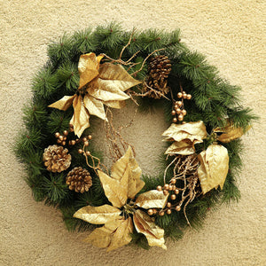 Golden Decorated Wreath