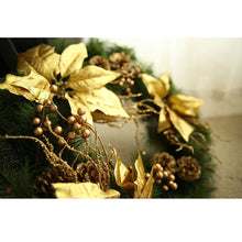Load image into Gallery viewer, Golden Decorated Wreath