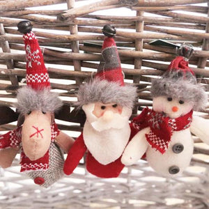 Open image in slideshow, Hanging Plush Ornaments / Red