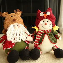 Load image into Gallery viewer, Sitting Santa & Snowman