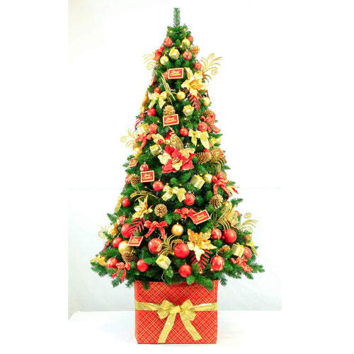 Christmas Tree With Red & Gold Decoration KIt