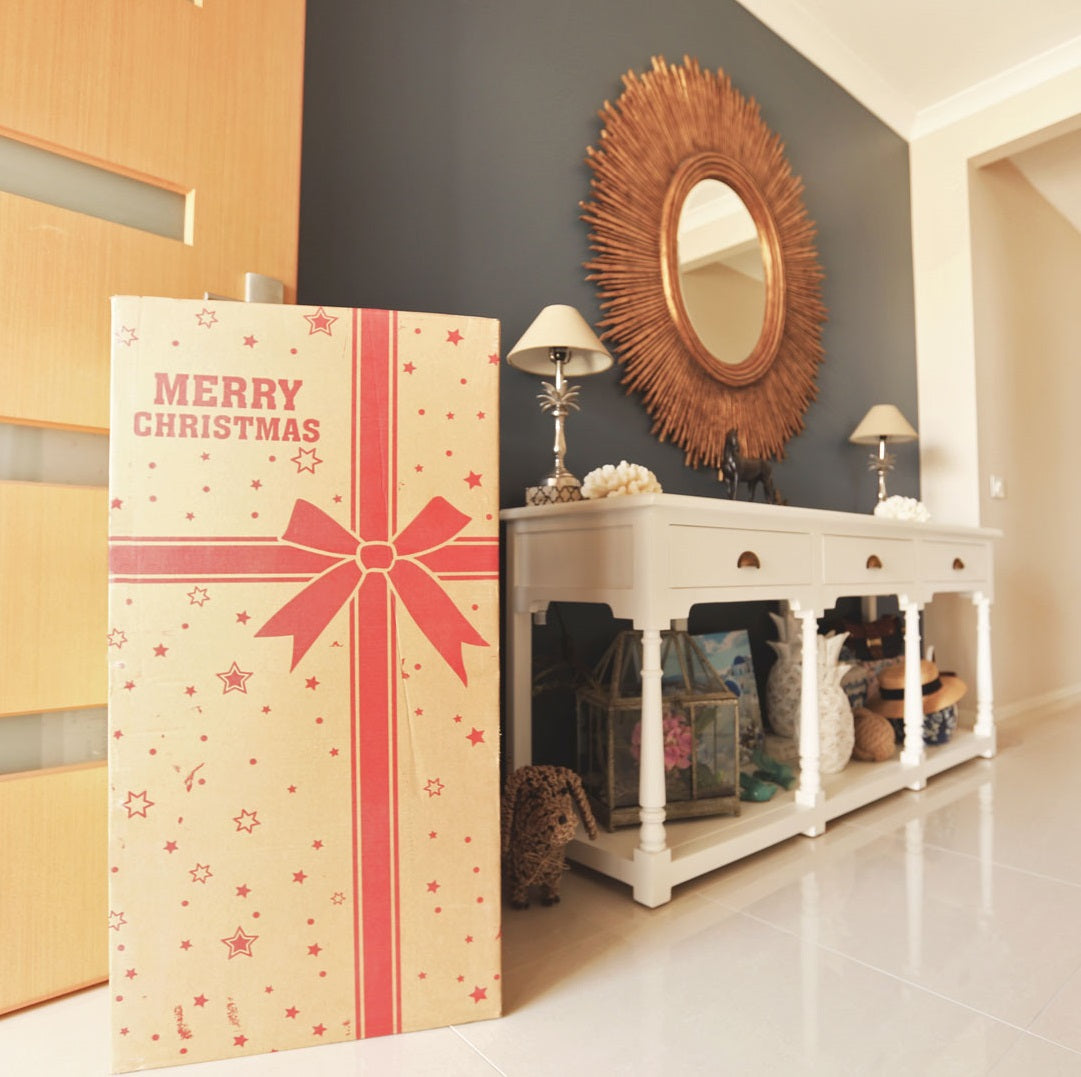 Christmas Tree With Blush Pink & Gold Decoration KIt