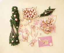 Load image into Gallery viewer, Christmas Tree With Blush Pink & Gold Decoration KIt