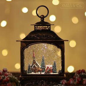 Open image in slideshow, Snowing French Lantern / Xmas Town