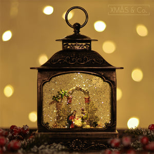 Open image in slideshow, Snowing French Lantern / Nativity
