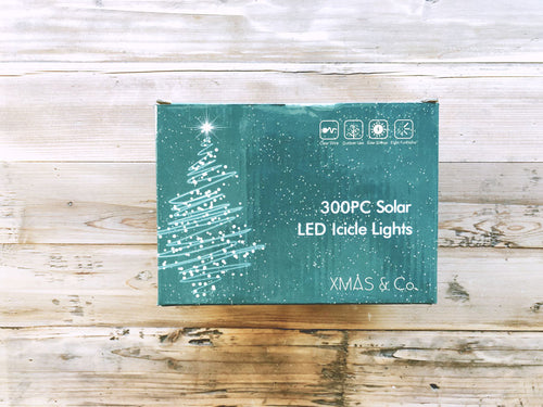 300PC Solar LED Icicle Lights