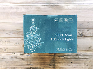 500PC Solar LED Icicle Lights