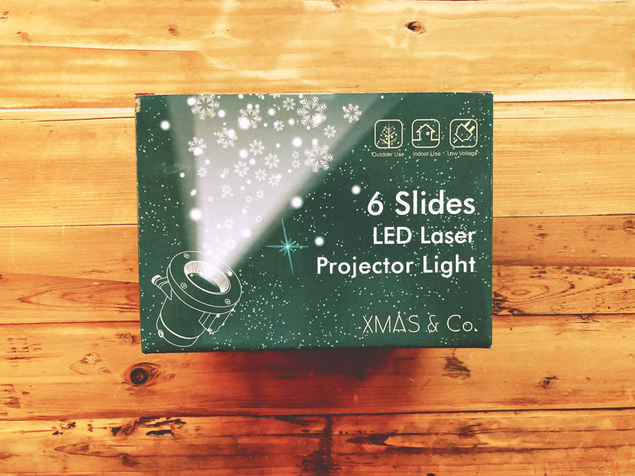 6 Slides LED Laser Projector Light
