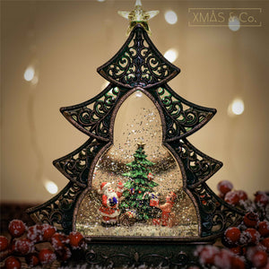 Open image in slideshow, Snowing Tree Lantern / Xmas Tree