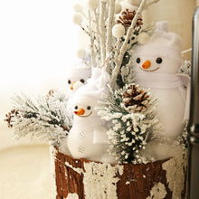 Load image into Gallery viewer, Snowman on Wood Pile
