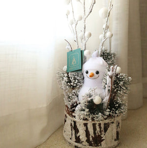 Open image in slideshow, Snowman on Wood Pile