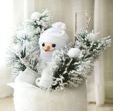 Load image into Gallery viewer, Snowman on Pillar