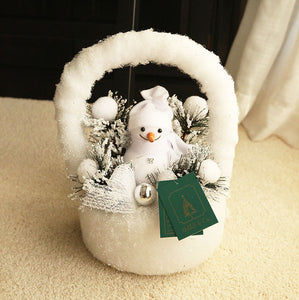 Snowman in Basket