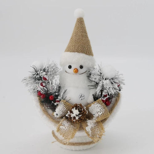 Snowman on Snowy Bowl Small