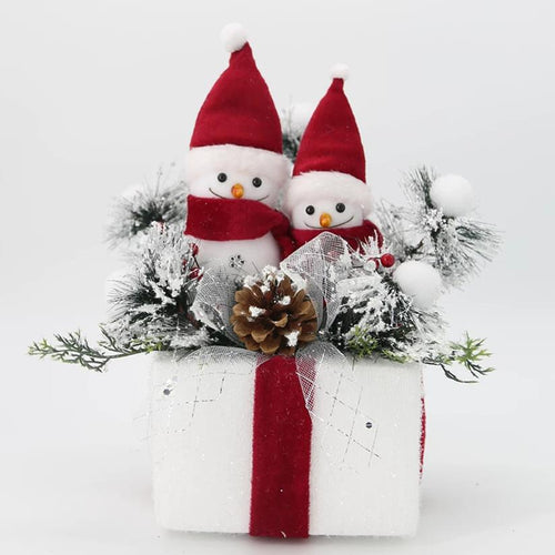 Snowmen on Gift Box Large