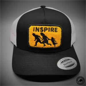 4db32157 Inspire Chenille Patch on - Yupoong 6506 Retro Trucker Snapback Cap -  Patches On Caps