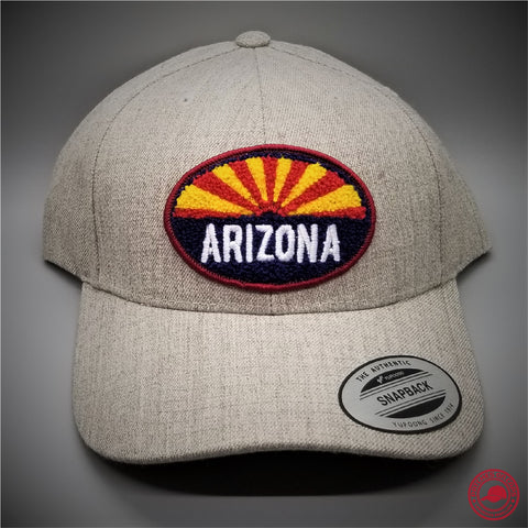 91c3b27751c Arizona Chenille Patch on - Yupoong 6789 Premium Structured Cap - Patches  On Caps