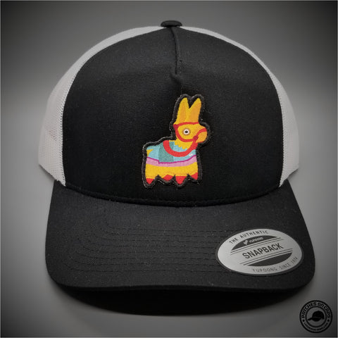 Pinata Woven Patch on - Yupoong 6506 Retro Trucker Snapback Cap - Patches  On Caps 50856ec0aa13