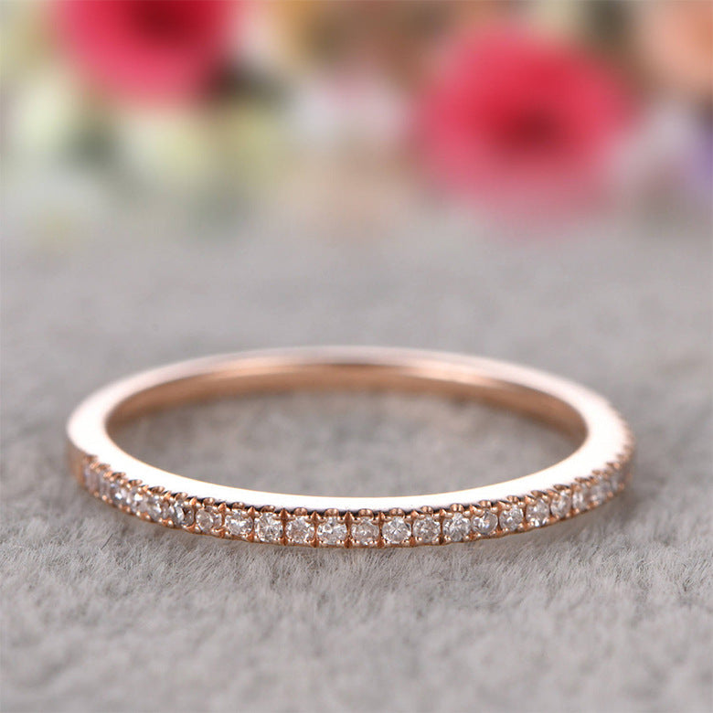 ID:R075 Women 18K Rose Gold GF Antique Jewelry Engagement Wedding Promise Statement Anniversary Band Ring Great Gift