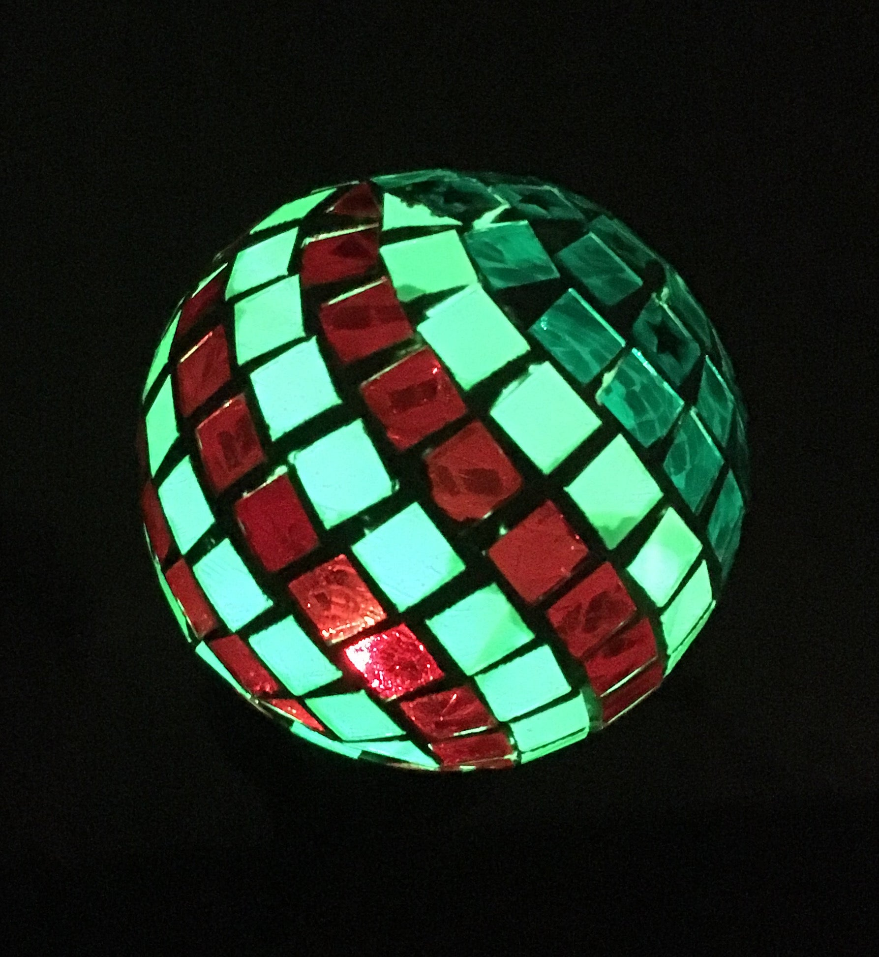 Solar American Flag Glass Ball Color Change LED Light Garden Decor Stake Outdoor Yard Pathway Lamp