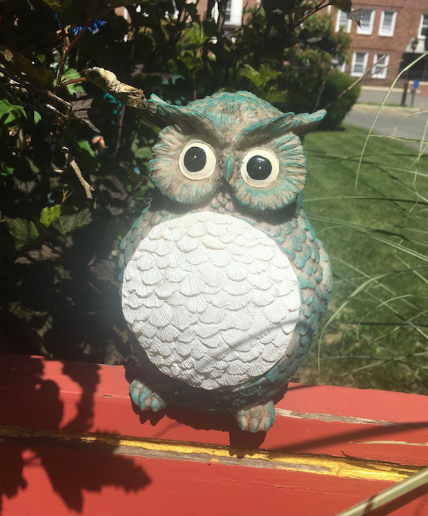 Solar Powered Garden Yard Patio Decor Animal Owl Statue Outdoor Landscape Lawn Pathway LED Light