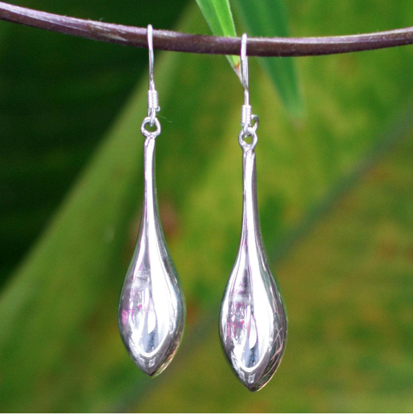 NOVICA Women Fashion Jewelry Handmade Gleaming Sterling Silver 'Dewdrops' Drop Hook Dangle Earrings