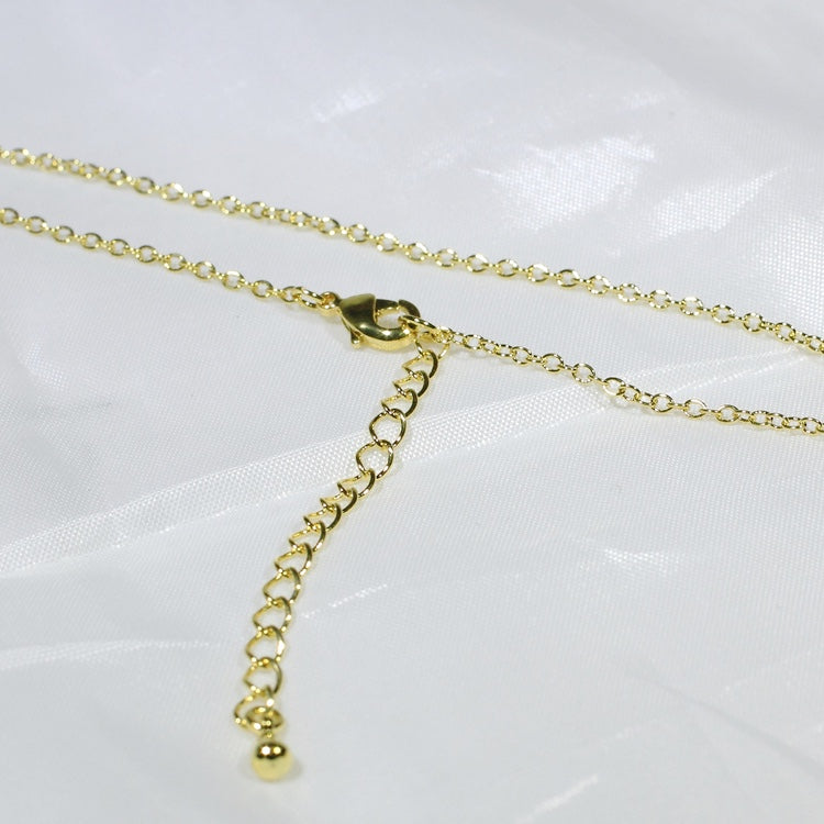 "Women 18K Yellow Gold GF Necklace Chain 18"" Long Fashion Lady Jewelry Great Gift"