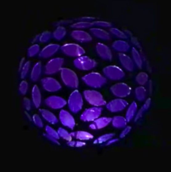 Solar Garden Decor Colorful Water Drop Flower Glass Ball Light Outdoor Pathway Color Change LED Lamp