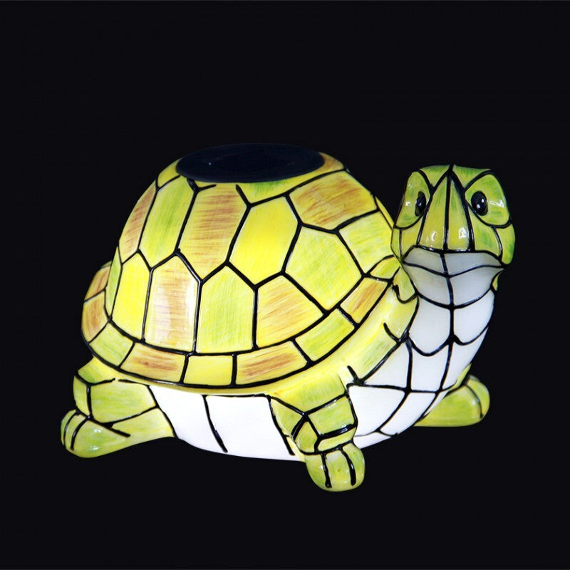 Solar Garden Yard Patio Decor Turtle Statue Outdoor Landscape Lawn Pathway Color Changing LED Light