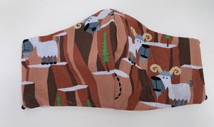 Cloth face mask - MOUNTAIN GOAT, Limited Edition