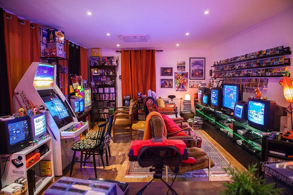 Man Caves Mens shed Gaming Retro Fun for men. Combat gear all Your Essential needs