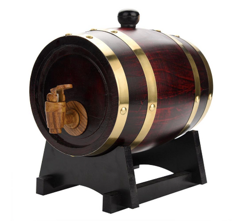 Whisky and Wine Oak Barrel At tsbizarre Man Cave Needs
