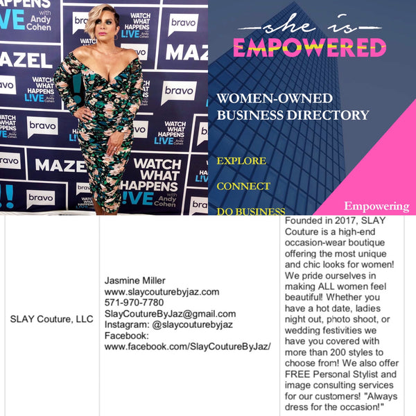 Featured in Housewives of Potomac's Robyn Dixon's She. is. Empowered. Women's Business Directory!