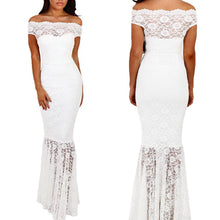 Load image into Gallery viewer, K.I.S.S. Me Bardot Lace Fishtail Maxi