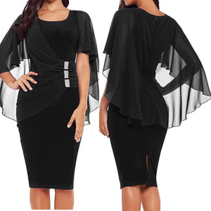 Humbly Yours Bodycon with Sheer Overlay (Plus Size)