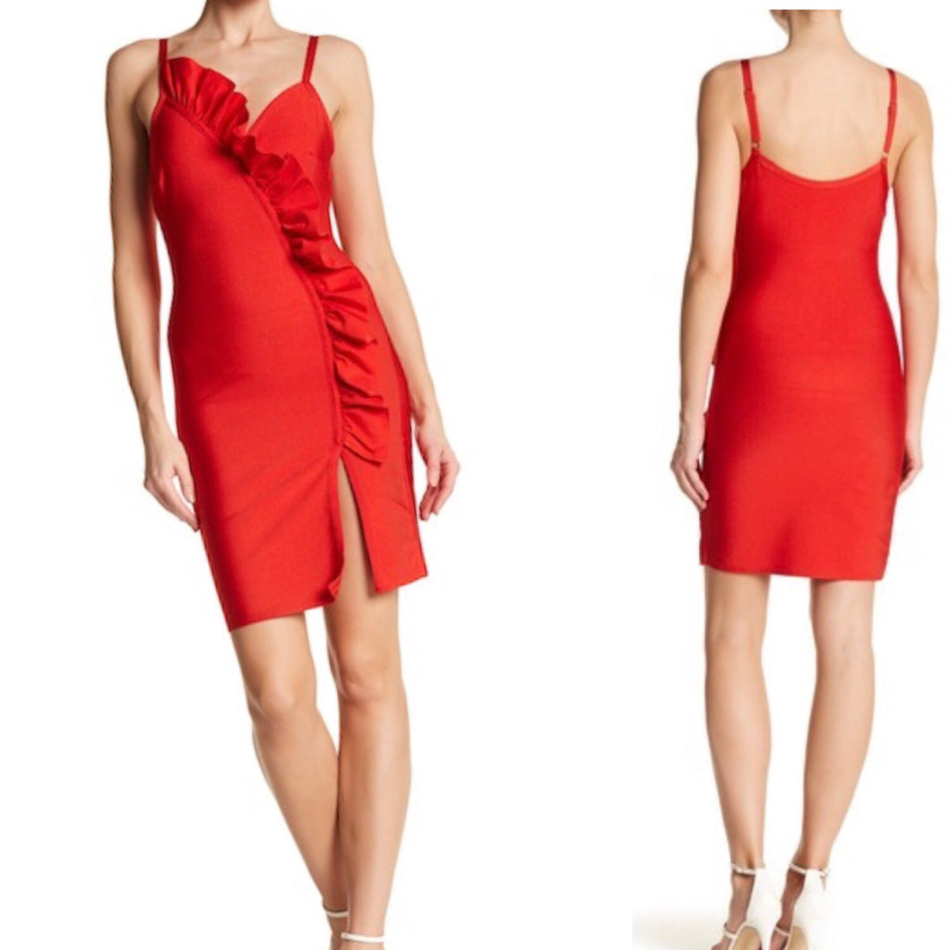 She Red You Bandage Bodycon Dress
