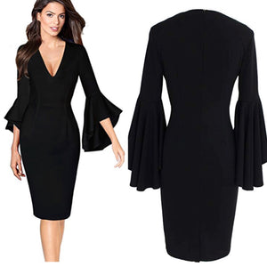 This Little Light of Mine Bell Sleeve Midi Dress  (Plus Size available)