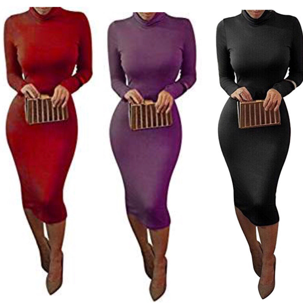 Im What You Want Turtleneck Bodycon Dress