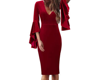 Country Christmas Wrap Velvet Dress