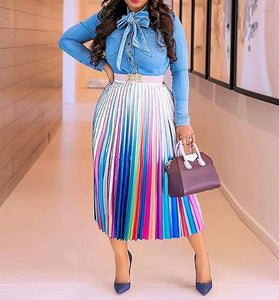 Playful Pleated Skirt (Plus Size)