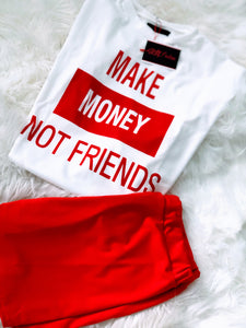Athleisure Make Money Not Friends Set - Plus Size Available (Pre-Order)