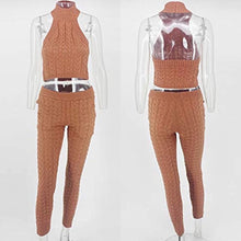 Load image into Gallery viewer, Knit Cable Halter Pant Set