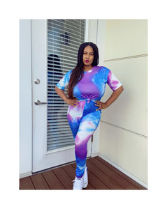 Tye Dye Matching Sets - Short Sleeve (Plus Size Available)