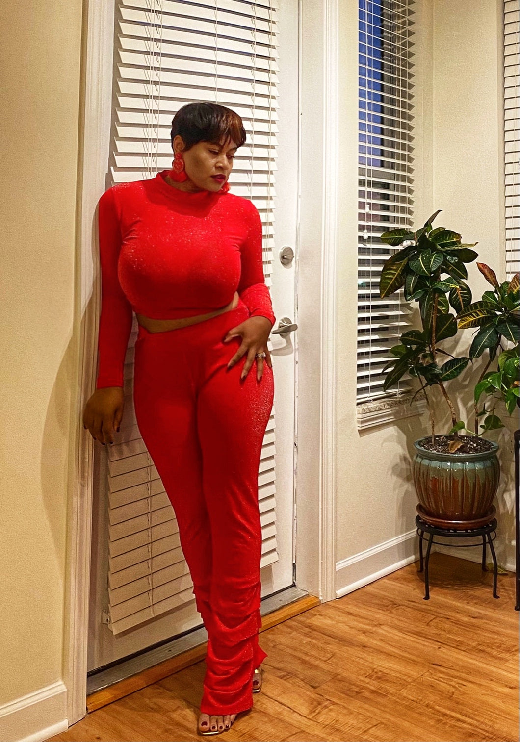 Holiday Glitter 2pc Stacked Set (Plus Size Available)