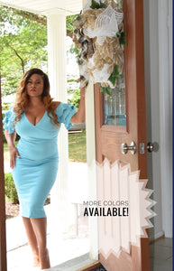 She is Fearless Midi Dress (Plus Size Available)