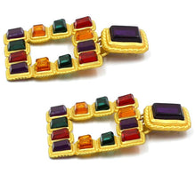 Load image into Gallery viewer, Egyptian Gem Earrings