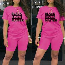 Load image into Gallery viewer, BLM Black Lives Matter Short Set (Plus Size Available)